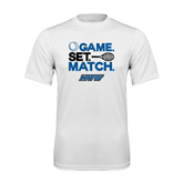 Syntrel Performance White Tee-Game Set Match Tennis Design