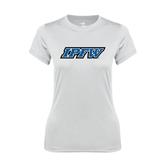 Ladies Syntrel Performance White Tee-IPFW