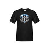 Youth Black T Shirt-IPFW Mastodon Shield