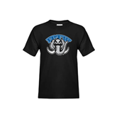 Youth Black T Shirt-Arched IPFW with Mastodon