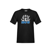 Youth Black T Shirt-Mastodon with IPFW