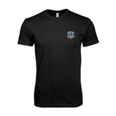 Next Level SoftStyle Black T Shirt-IPFW Mastodon Shield
