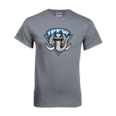Charcoal T Shirt-IPFW Mastodon Shield