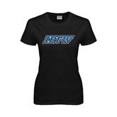 Ladies Black T Shirt-IPFW