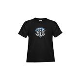 Toddler Black T Shirt-IPFW Mastodon Shield