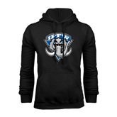 Black Fleece Hoodie-IPFW Mastodon Shield