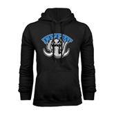 Black Fleece Hoodie-Arched IPFW with Mastodon