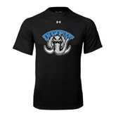 Under Armour Black Tech Tee-Arched IPFW with Mastodon