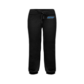 ENZA Ladies Black Banded Fleece Capri-IPFW