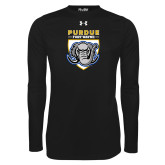 Under Armour Black Long Sleeve Tech Tee-Primary Athletic Logo