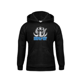 Youth Black Fleece Hoodie-Mastodon with IPFW