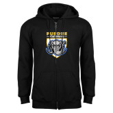 Black Fleece Full Zip Hoodie-Primary Athletic Logo