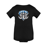 Black Infant Onesie-IPFW Mastodon Shield