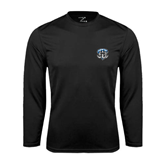 Syntrel Performance Black Longsleeve Shirt-IPFW Mastodon Shield