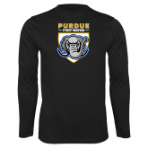 Performance Black Longsleeve Shirt-Primary Athletic Logo