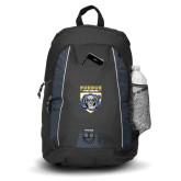 Impulse Black Backpack-Primary Athletic Logo