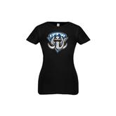 Youth Girls Black Fashion Fit T Shirt-IPFW Mastodon Shield