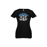 Youth Girls Black Fashion Fit T Shirt-Arched IPFW with Mastodon