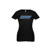 Youth Girls Black Fashion Fit T Shirt-IPFW