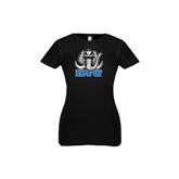Youth Girls Black Fashion Fit T Shirt-Mastodon with IPFW