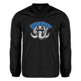 V Neck Black Raglan Windshirt-Arched IPFW with Mastodon