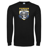 Black Long Sleeve T Shirt-Primary Athletic Logo