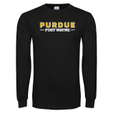 Black Long Sleeve T Shirt-Athletics Primary Wordmark
