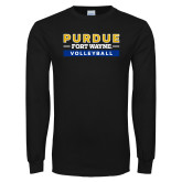 Black Long Sleeve T Shirt-Volleyball
