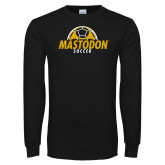 Black Long Sleeve T Shirt-Soccer Ball