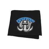 Black Sweatshirt Blanket-Arched IPFW with Mastodon