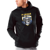 Under Armour Black Armour Fleece Hoodie-Primary Athletic Logo