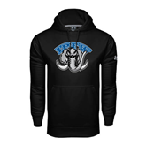 Under Armour Black Performance Sweats Team Hoodie-Arched IPFW with Mastodon