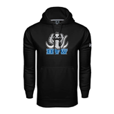 Under Armour Black Performance Sweats Team Hoodie-Mastodon with IPFW