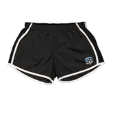 Ladies Black/White Team Short-IPFW Mastodon Shield