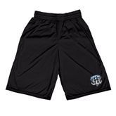 Midcourt Performance Black 9 Inch Game Short-IPFW Mastodon Shield