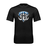 Syntrel Performance Black Tee-IPFW Mastodon Shield