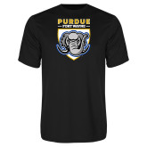 Performance Black Tee-Primary Athletic Logo