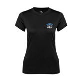 Ladies Syntrel Performance Black Tee-Arched IPFW with Mastodon