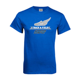 Royal T Shirt-Track and Field Side Shoe Design