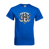 Royal T Shirt-IPFW Mastodon Shield Distressed