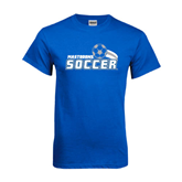 Royal T Shirt-Soccer Swoosh Design