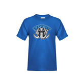 Youth Royal T Shirt-Arched IPFW with Mastodon