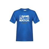 Youth Royal T Shirt-Game Set Match Tennis Design