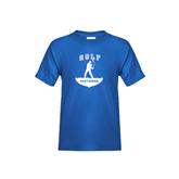 Youth Royal T Shirt-Golfer Golf Design