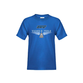 Youth Royal T Shirt-Track and Field Design