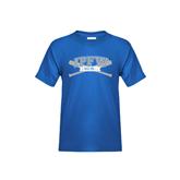 Youth Royal T Shirt-Baseball Bats Design