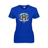 Ladies Royal T Shirt-IPFW Mastodon Shield