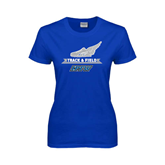 Ladies Royal T Shirt-Track and Field Side Shoe Design