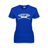 Ladies Royal T Shirt-Baseball Bats Design