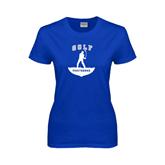 Ladies Royal T Shirt-Golfer Golf Design